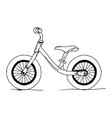 balance bike hand drawn vector image
