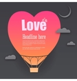 Balloon cut out of paper with place for your vector image vector image