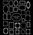 big collection of beautiful hand draw frames vector image vector image