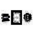 black paint ink brush stroke texture vector image