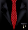 black suit and jewel vector image vector image