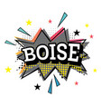 boise comic text in pop art style vector image vector image