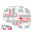 brain intricacy optimal decision making solutions vector image