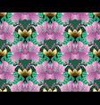 bright colorful floral seamless pattern abstract vector image