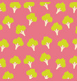 broccoli vegetable food seamless pattern vector image