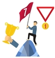 Business achieving goal success concept vector image