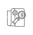 business intelligence line icon concept business vector image