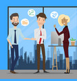 business people talking at working office space vector image vector image