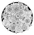 circle floral ornament hand drawn art mandala vector image vector image