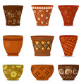 collection decorative pottery flower pot for your vector image vector image
