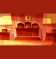 courthouse or court room vector image vector image