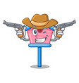 cowboy cartoon little bird house in spring vector image vector image