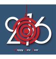 Creative design Happy new year 2016 greeting card vector image vector image