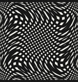 curved mesh seamless pattern black and white vector image