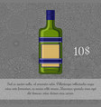 czech liquor alcoholic beverage card vector image vector image
