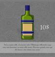 czech liquor alcoholic beverage card vector image