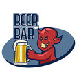Devil Beer Bar vector image vector image