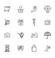 doodle logistics icons set vector image vector image