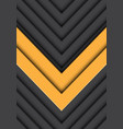 double yellow arrow gray pattern direction vector image vector image