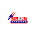 eagle and stars icon for made in usa vector image