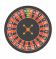 european roulette wheel top view vector image vector image