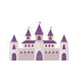 fairytale romanesque castle impenetrable wall vector image vector image
