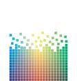 falling pixels vector image