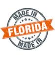 Florida orange grunge ribbon stamp on white vector image vector image