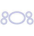 gear border set vector image