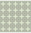 Geometric Seamless pattern with stylized flower vector image vector image