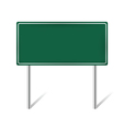 green blank information sign vector image vector image