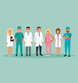 group of doctors vector image vector image