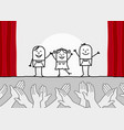 hand drawn cartoon characters - theater show and c vector image vector image