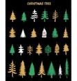 Hand drawn Christmas Tree elements vector image vector image