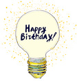 Happy birthday conceptual greeting card with vector image