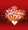 happy valentines day wishes greeting card layout vector image vector image