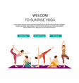 health and yoga landing web page template vector image