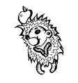 hedgehog character hand-drawn on white background vector image