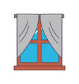 house window icon vector image