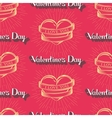 I love you Happy Valentines Day seamless pattern vector image vector image
