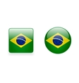Icons with Brazilian Flag vector image vector image