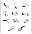 image of cartoon human gloves hand with arm vector image vector image