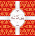 invitation card with red chinese pattern vector image vector image