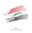 iraq flag with halftone effect vector image vector image