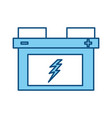 isolated car battery vector image vector image