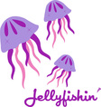 Jellyfishin vector image