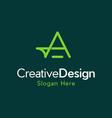 letter a creative business modern logo vector image vector image