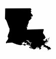 louisiana silhouette map vector image vector image