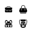 luggage simple related icons vector image vector image
