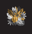luxury abstract tropical leaves design element vector image vector image